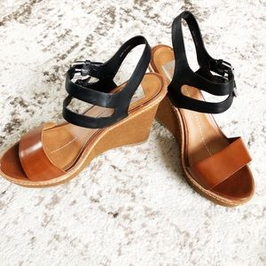 Dolce Vita Brown and black wedges size 8.5